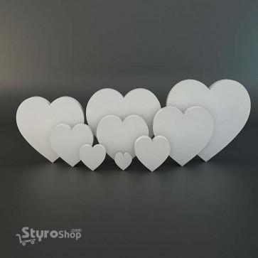 Styro 2D Heart Cutouts