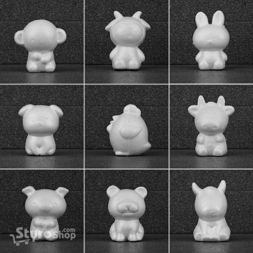 Styro Animals Pack of 9