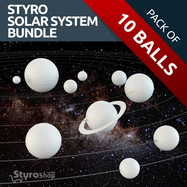 Polystyrene Foam Balls Solar System Planet Craft Pack Make Your Own Solar System