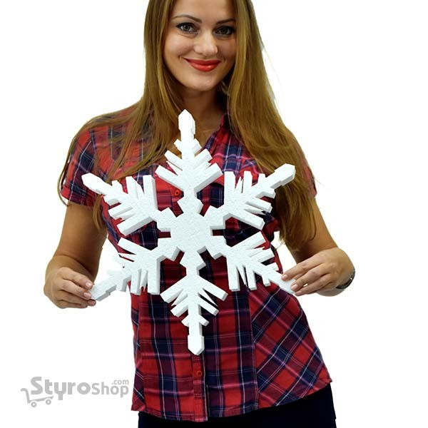 Polystyrene Shape 7.5cm Great for Christmas Decorations Snowflake